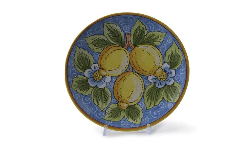 Тарелка плоская с лимонами