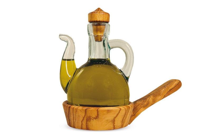 Графинчик для масла с основой из оливы