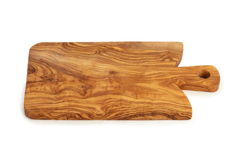 Разделочная доска из оливкового дерева с ручкой