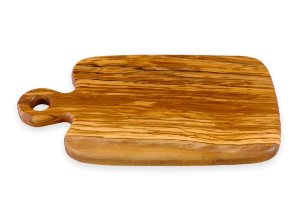 Разделочная доска из оливкового дерева овальная с ручкой