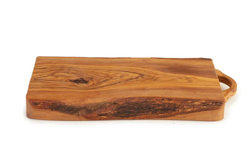 Большая разделочная доска из оливкового дерева с ручкой
