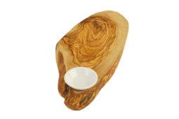 Доска из оливы + маленькая керамическая чаша