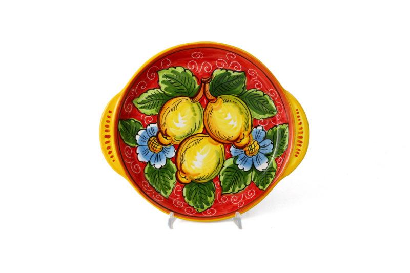 Поднос круглый с лимонами
