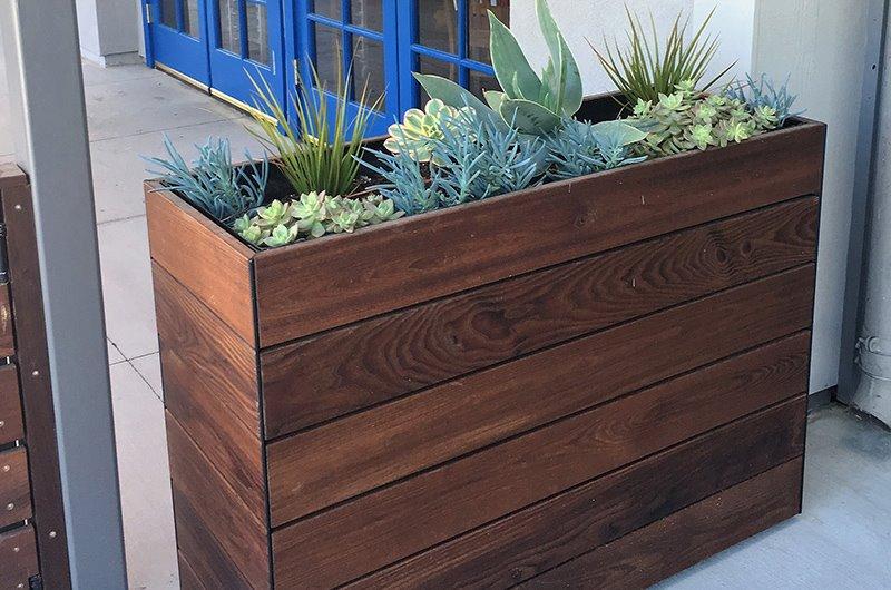 кашпо деревянное