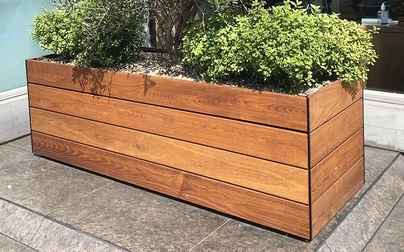 Кашпо деревянное 1 м